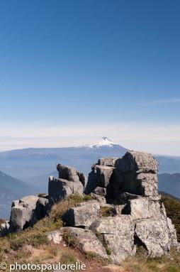 Volcan Villarica depuis le Cerro San Sebastian - PN Huerquehue - Chili